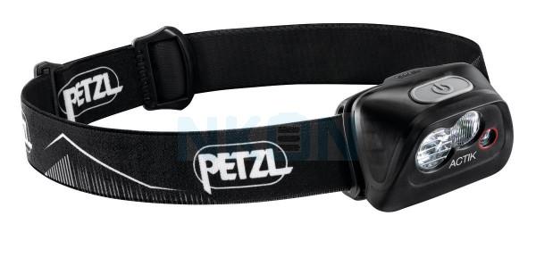 Petzl Actik Black Head Lamp - 350 Lumen