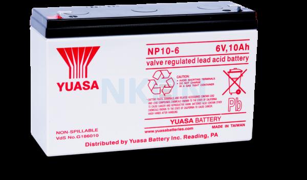 Yuasa 6V 10Ah Lead battery