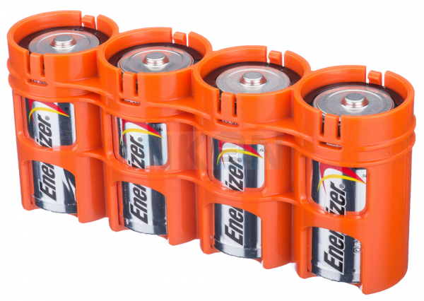 4 D Battery case from Powerpax
