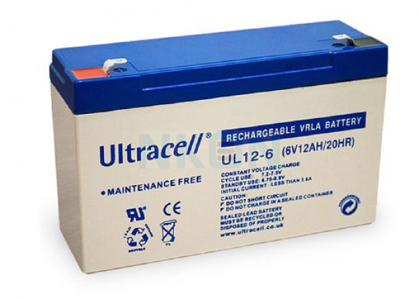 Ultracell 6V 12Ah Lead acid