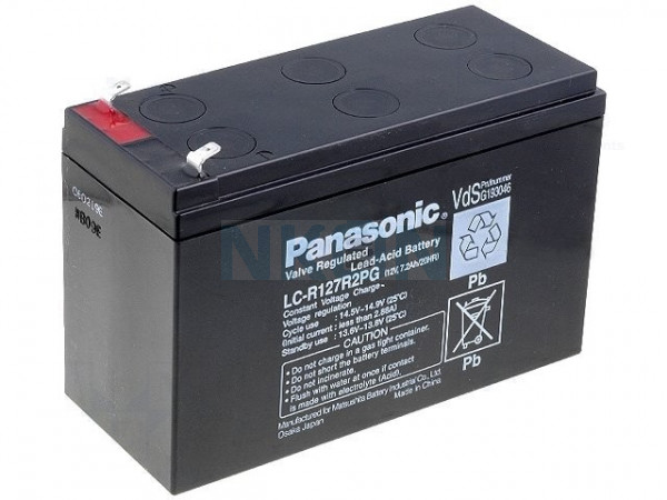 Panasonic 12V 7.2Ah lead acid (4.8mm)