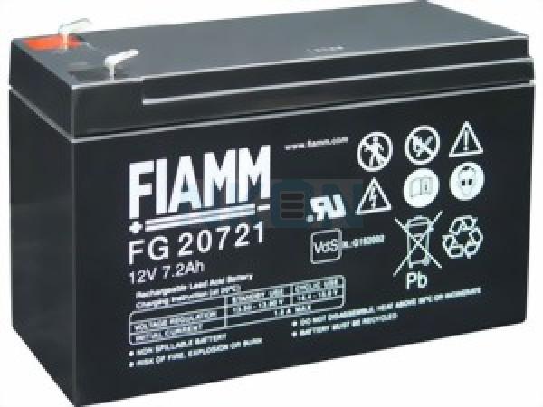 Fiamm FG 12V-7.2 (4.8mm) Lead Acid