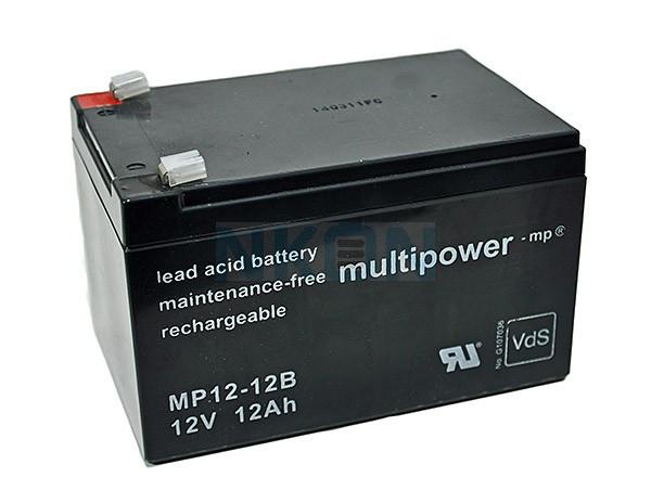 Multipower 12V 12Ah Lead acid (6.3mm)