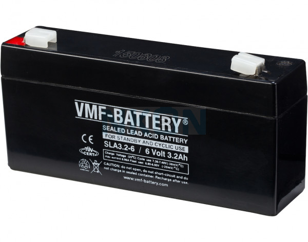 VMF 6V 3.2Ah lead battery
