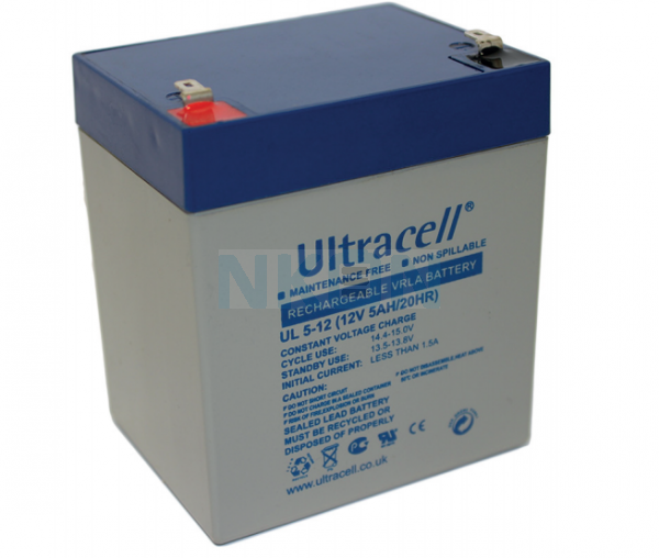 Ultracell 12V 5Ah Lead acid