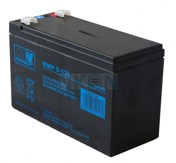 MWPower Deep Cycle 12V 9Ah Lead acid battery (6.3mm)