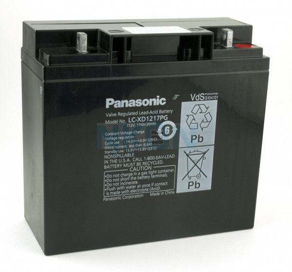Panasonic 12V 17Ah lead acid