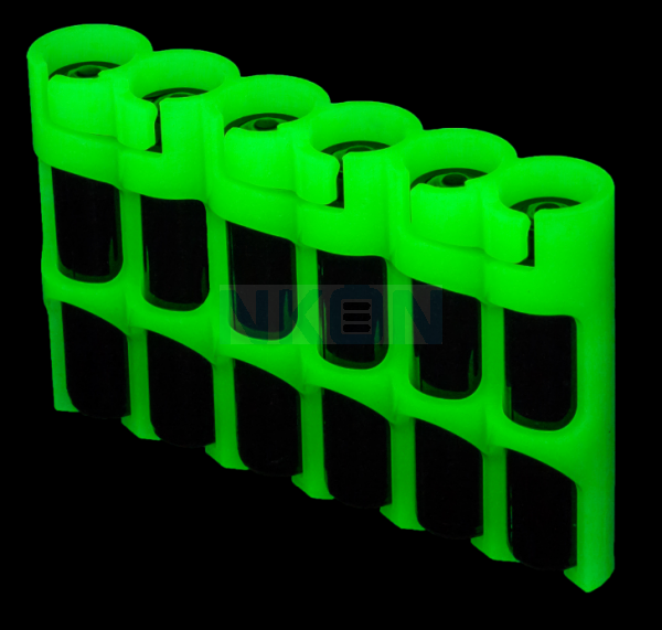 6 AAA Powerpax Battery case - glow in the dark