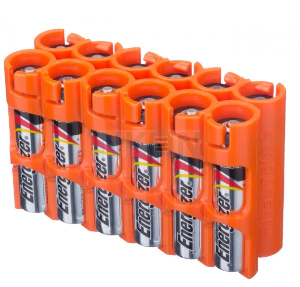 12 AAA Powerpax Battery case - Orange