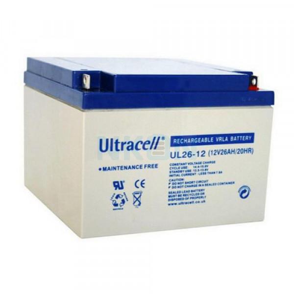 Ultracell 12V 26Ah Lead battery