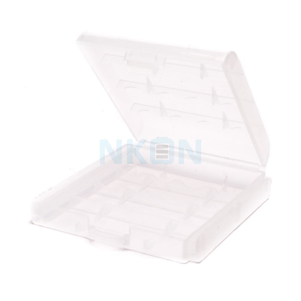 Battery case for 4 AA/AAA batteries
