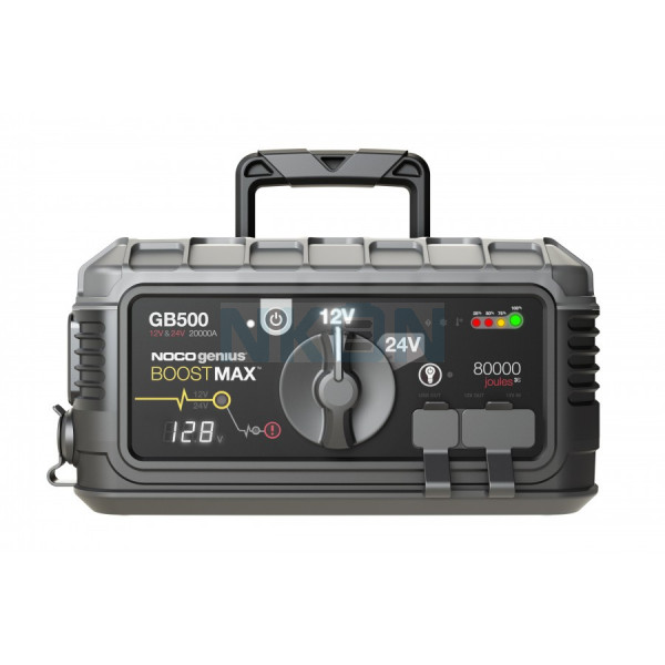 Noco Genius Boost Max GB500 jump starter 12V / 24V - 20,000A