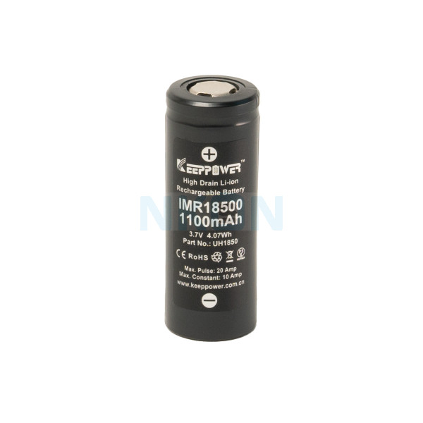 Keeppower IMR 18500 1100mAh - 10A