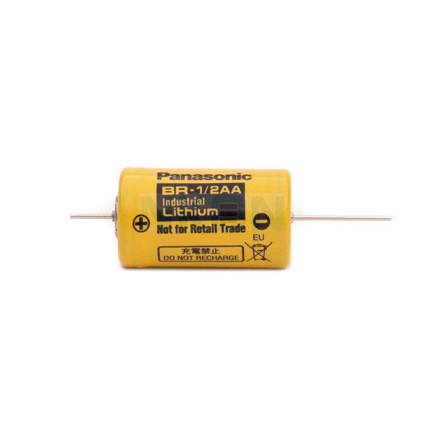 Panasonic Industrial BR-1/2AA with axial solder tags (CNA) - 3V