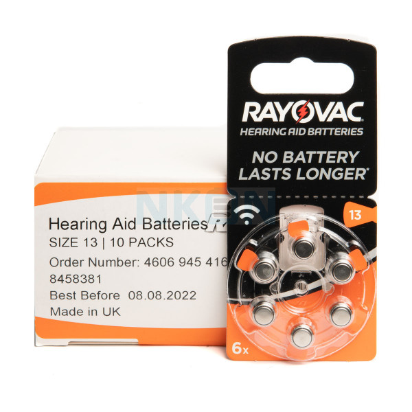 60x 13 Rayovac Acoustic Special hearing aid batteries