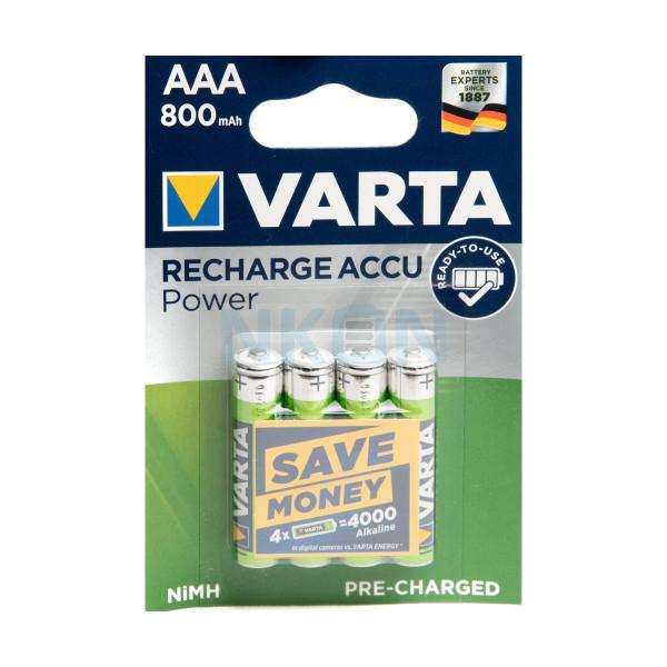 4 AAA Varta Recharge Accu Power - 800mAh