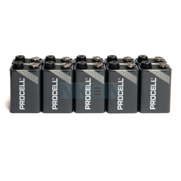 10 9V Duracell Procell / Industrial