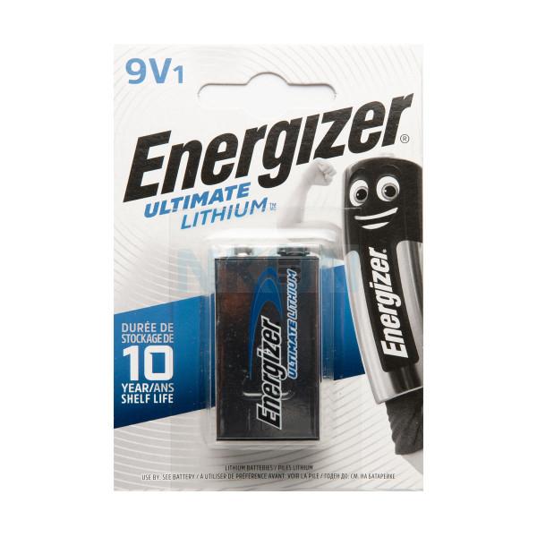 9V Energizer Lithium Battery - blister