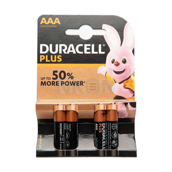 4 AAA Duracell Plus - 1.5V