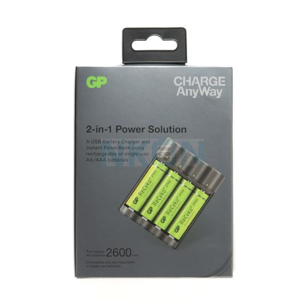 GP Recyko X411 - power bank / battery charger + 4 AA GP (2600mAh)