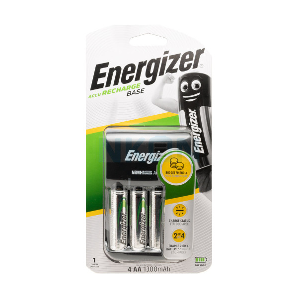 Energizer Base battery charger + 4 AA Energizer (1300mAh)
