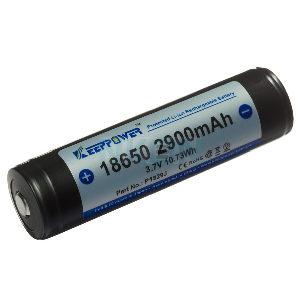 Keeppower 18650 2900mAh (protected) - 10A