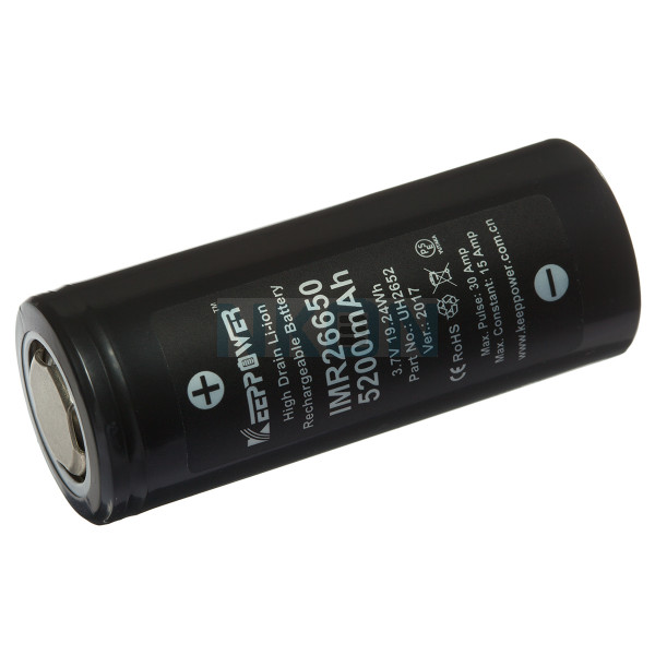Keeppower IMR26650 5200mAh - 15A