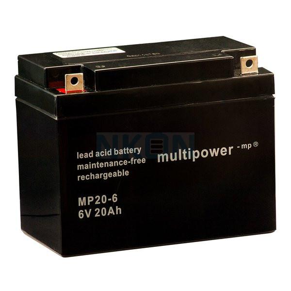 Multipower 6V 20Ah Lead battery