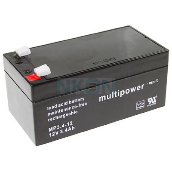 Multipower 12V 3.4Ah lead acid
