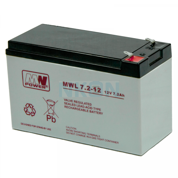 MWPower Deep Cycle 12V 7.2Ah Lead battery
