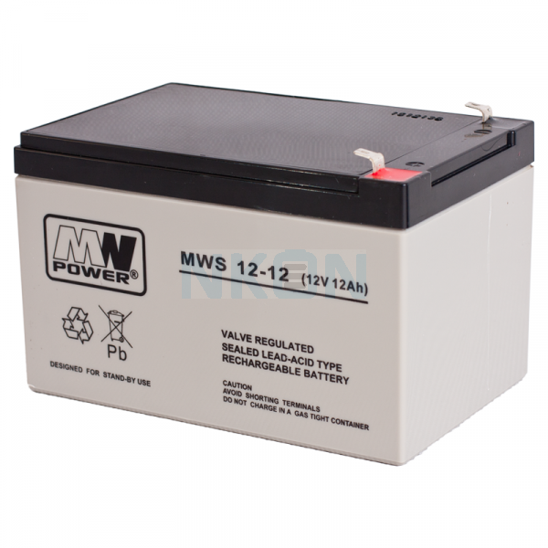 MWPower 12V 12Ah Lead battery (6.3mm)