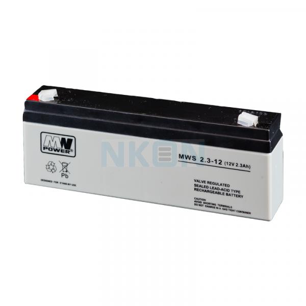 MWPower 12V 2.3Ah Lead battery