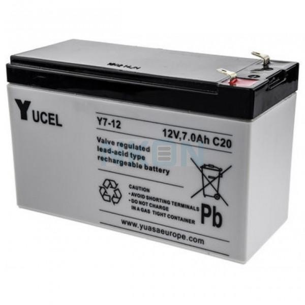 Yuasa Yucel 12V 7Ah lead battery