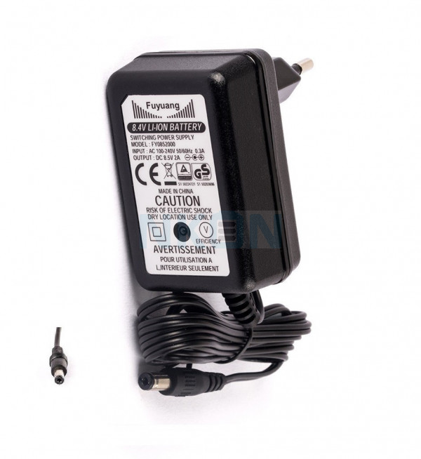 Enerpower 8.4V 2S DC-plug E-bike battery charger - 2A