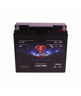 Voltium Energy 12.8V 20Ah - LiFePo4 (lead-acid battery replacement)