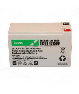 Lucas 12V 7Ah Lead acid battery