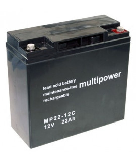 Multipower Deep Cycle 12v 22Ah Lead Acid