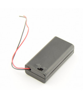 2x AA Battery case with wires and switch