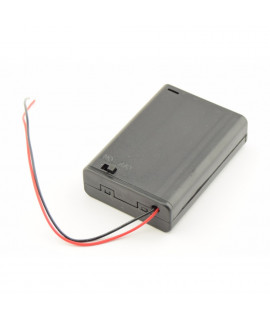 3x AA Battery case with wires and switch