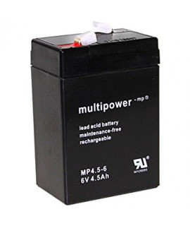 Multipower 6V 4.5Ah lead acid (4.8mm)
