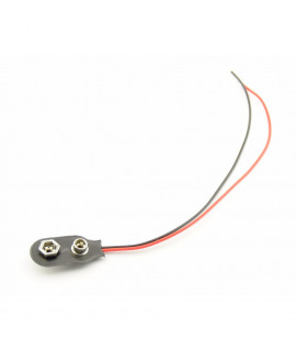 9V Battery clip with wires - SOFT