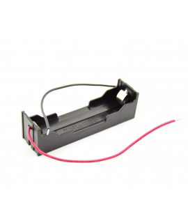 1x 18650 Battery holder with clamp contacts and loose wires
