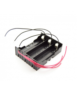3x 18650 Battery holder with clamp contacts and loose wires