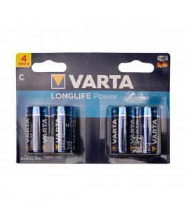 4x C Varta Longlife Power - 1.5V