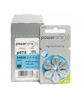 10x6 PowerOne 675 hearing batteries