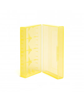 2x 18650 or 4x 18350 battery case YELLOW