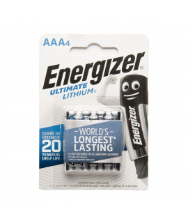 4 AAA Energizer Lithium batteries L92