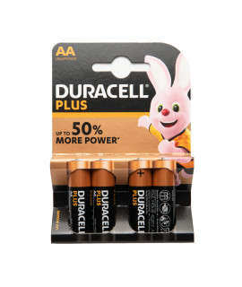 4x AA Duracell Plus - 1.5V