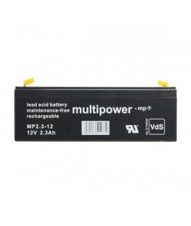 Multipower 12V 2.3Ah lead acid