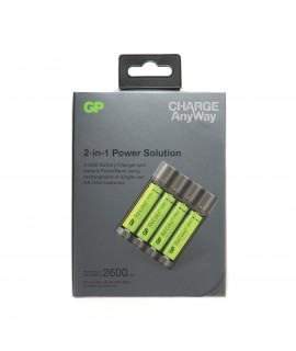 GP Recyko X411 - power bank / battery charger + 4 AA GP (2600mAh)